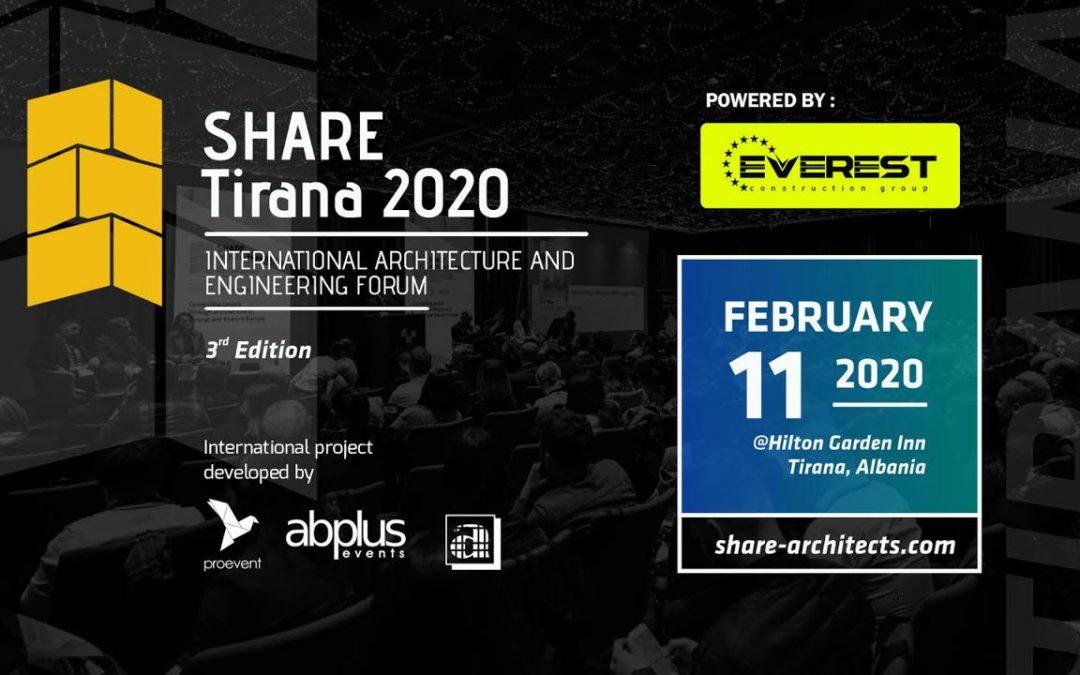 Share Tirana 2020: Forumi Ndërkombëtar i Arkitekturës dhe Inxhinierisë